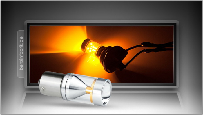 6xCREE® LED, PKD V2.0, BAU15s, LEDPY21W mit 30 Watt in Orange